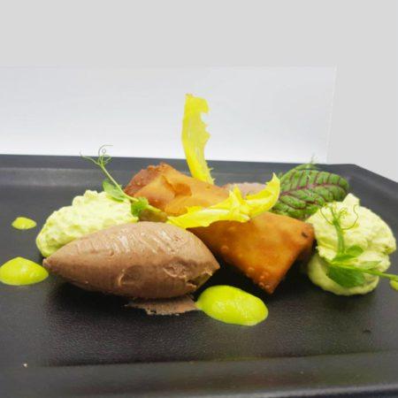 mousse-di-piselli-strudel-di-funghi